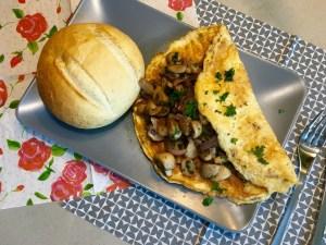 lekkere champignon omelet