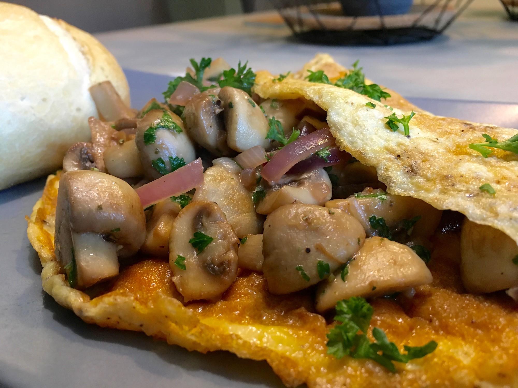 Overheerlijke champignon omelet