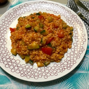 Tomaten-courgetterisotto Resultaat