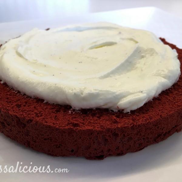 Opbouw Red Velvet taart