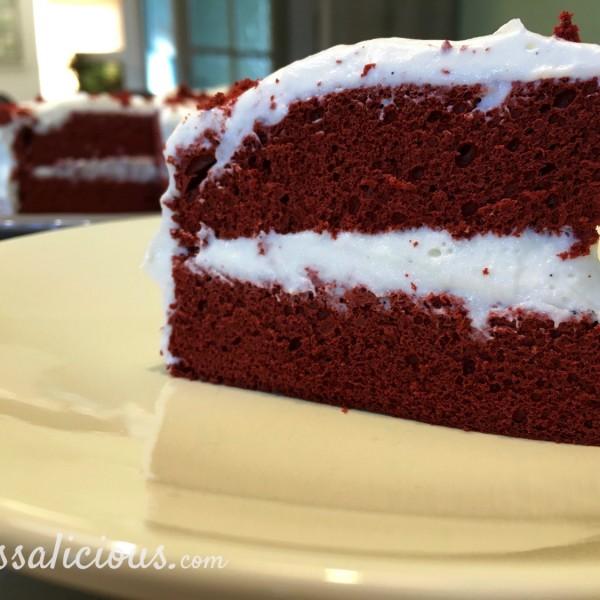 Stukje Red Velvet taart