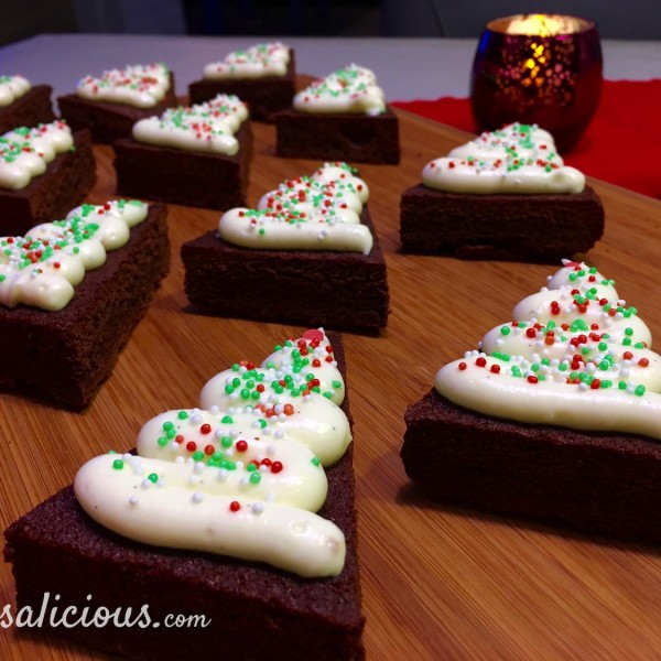 Lekkere Brownie kerstboompje
