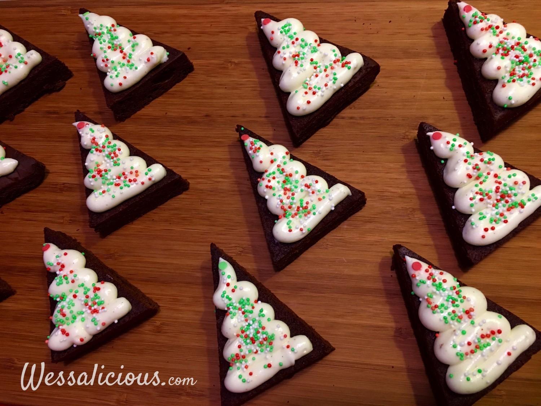 prachtige Brownie kerstboompje