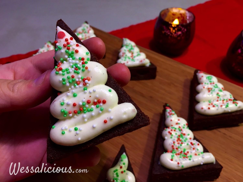 smakelijke Brownie kerstboompje