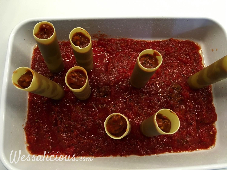 voorbereiding Cannelloni met tomaat en spinazie