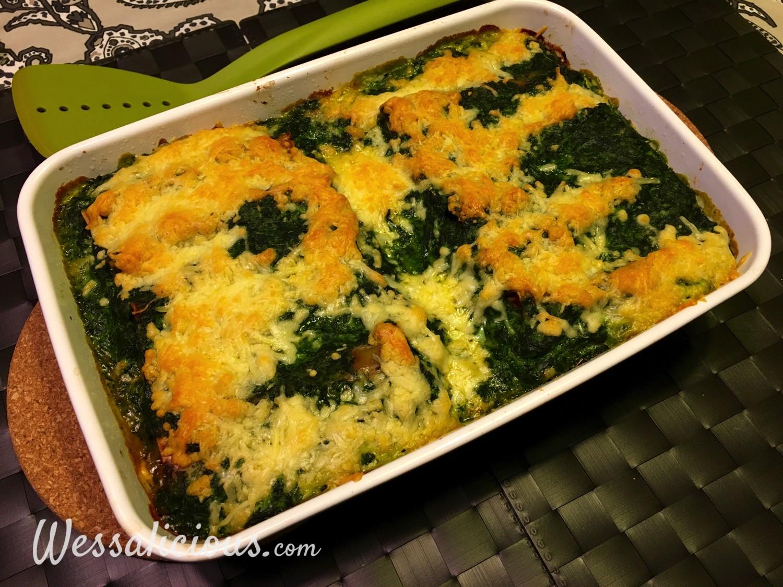 Cannelloni met tomaat en spinazie