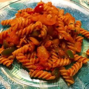 heerlijke tropische Hawaiiaanse pasta