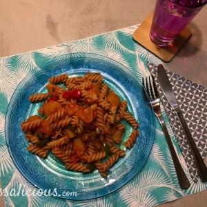 voorbeeld Hawaiiaanse pasta
