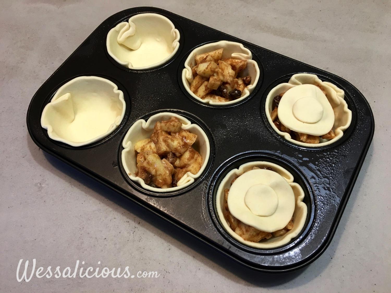 voorbereiding Snelle bladerdeeg appeltaartjes
