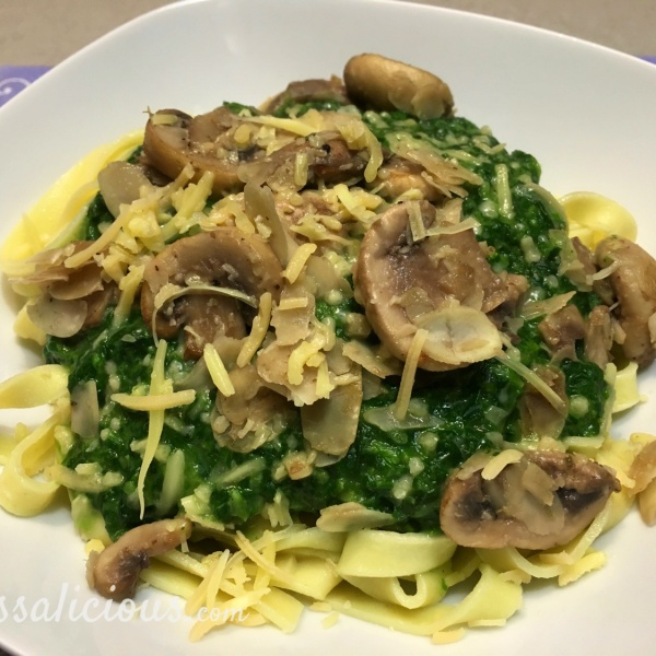 voorbeeld van Tagliatelle met spinazie á la crème