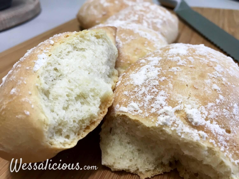 binnenkant Pain d'epi (Franse broodjes)