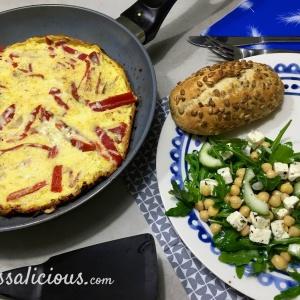 geroosterde Paprika-omelet
