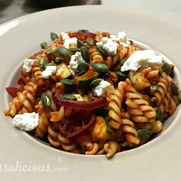 Voorbeeld Pasta met courgette en ricotta