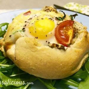 broodje gevuld met ei
