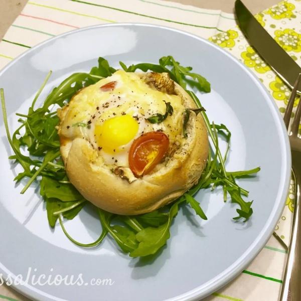 Lekker broodje gevuld met ei
