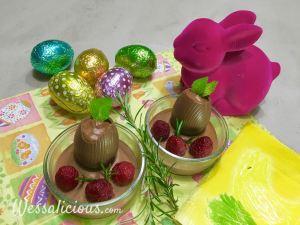 Verrassende chocolademousse met frambozen