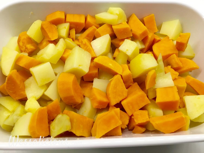 voorbereiding Zoete aardappel bijgerecht