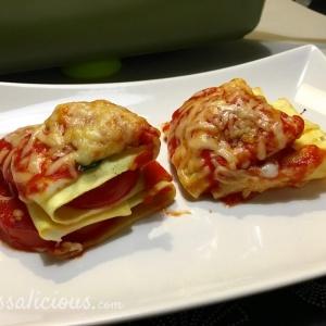 Voorbeeld Opgevouwen Caprese lasagne