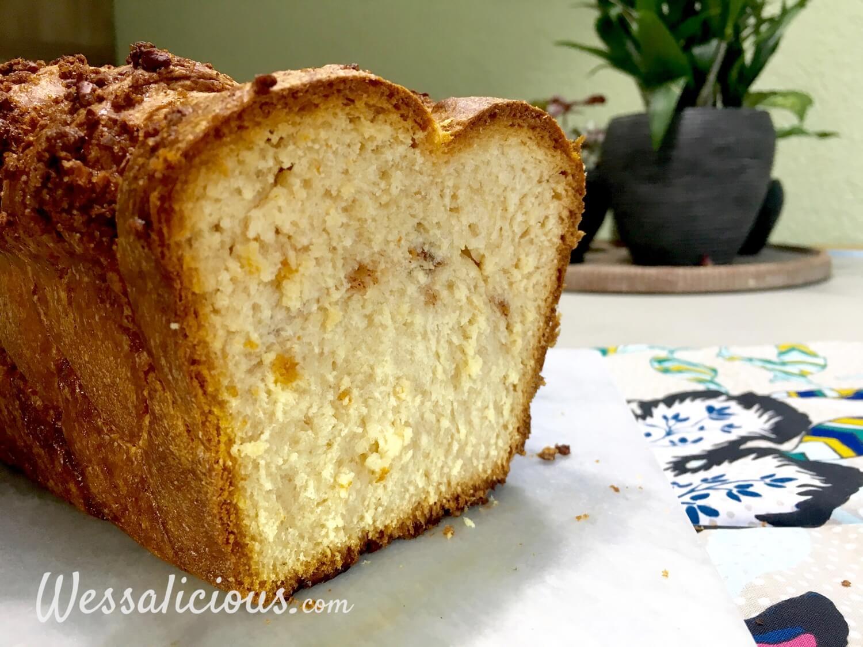 Luchtigheid van Brioche (pecanbrood)