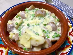 Lenterecept: Romige aardappelstukjes met doperwten