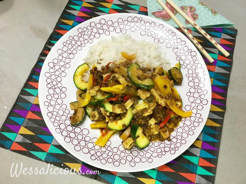 Thaise linzen-curry met rijst