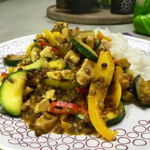 voorbeeld Thaise linzen-curry