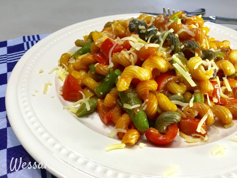 Resultaat Cajun pasta met paprika