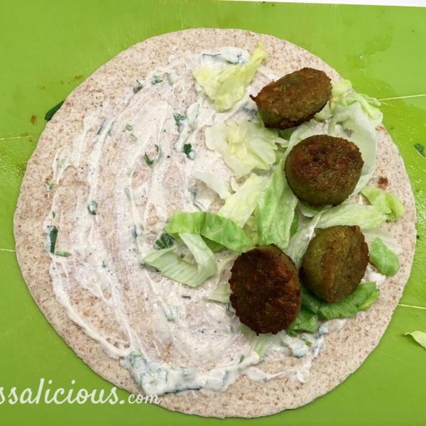 Voorbereiding Falafel wraps