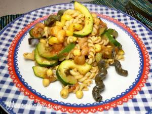 voorbeeld pasta met kikkererwten