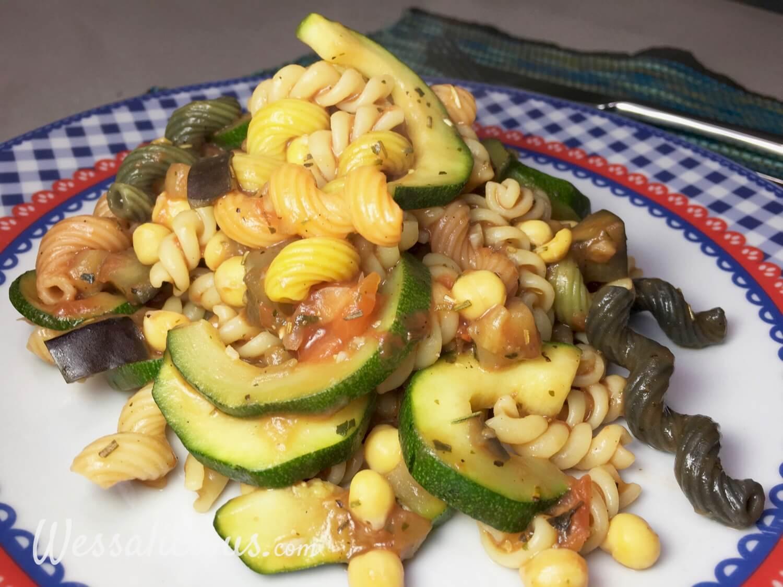 lekkere pasta met kikkererwten en rozemarijn