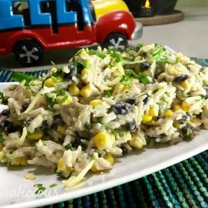 Smeuige enchilada rijst