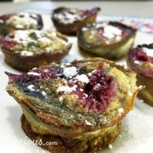 Bijzondere Gezonde zoete muffins met bosbessen