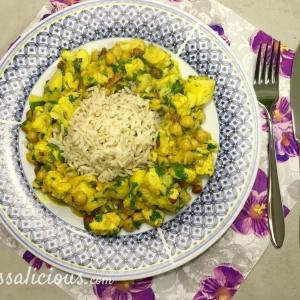 Verassende Indiase bloemkoolcurry met ananas