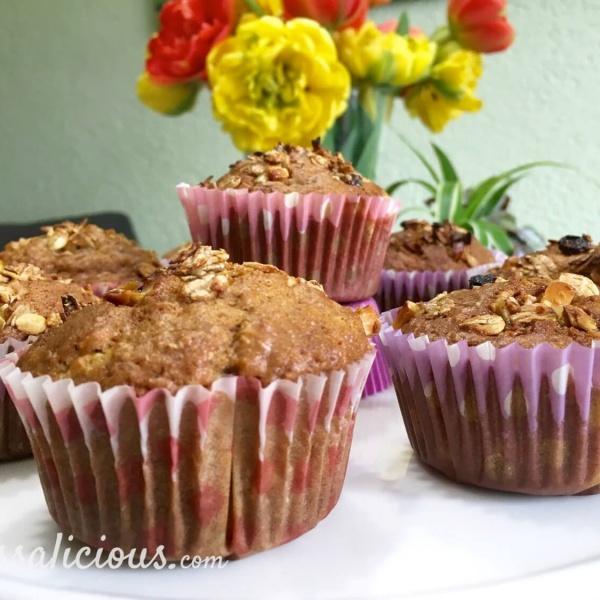 Volkoren muffins met Muesli