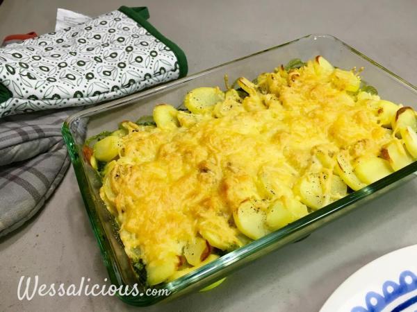 heerlijke Spinazie uit de oven met aardappel