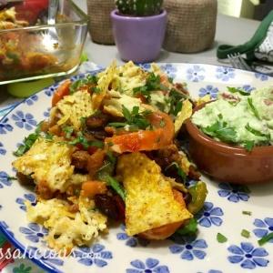 eindresultaat Mexicaanse ovenschotel van tortillachips