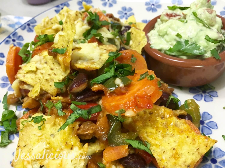 Mexicaanse ovenschotel van tortillachips