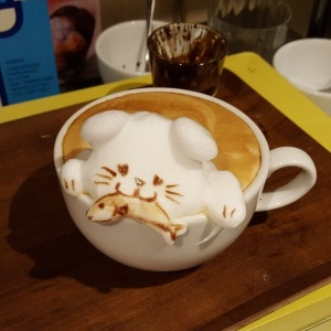 3D latte art visje