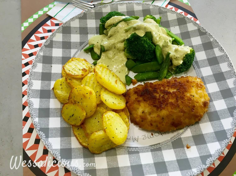 Lekkere Aardappelschijfjes met broccoli en pestosaus