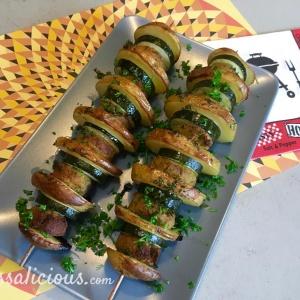 lekker Spiesjes van aardappel en falafel