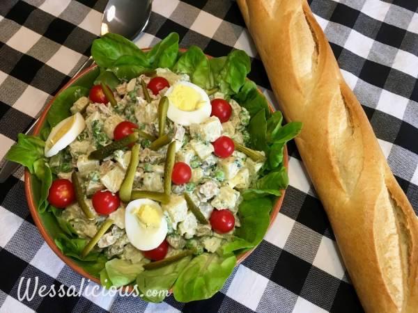 lekkere Zelfgemaakte vegetarische huzarensalade