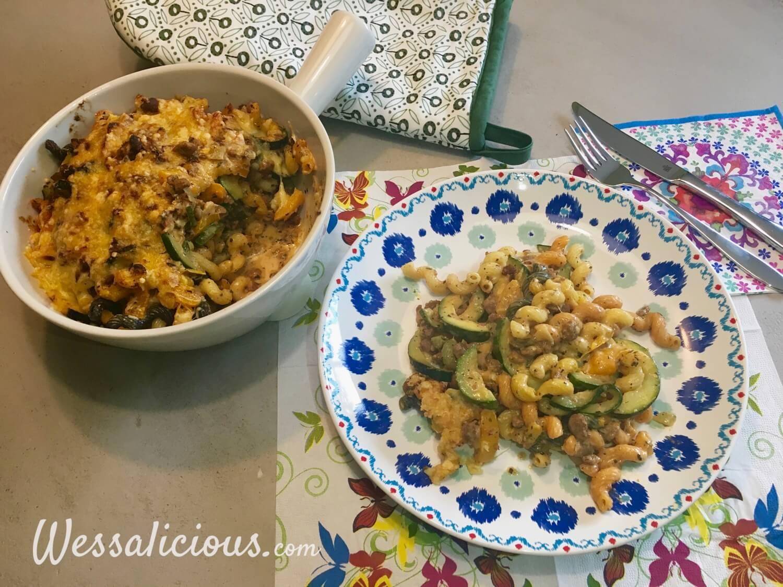 eindresultaat Gegratineerde pasta met crème fraîche