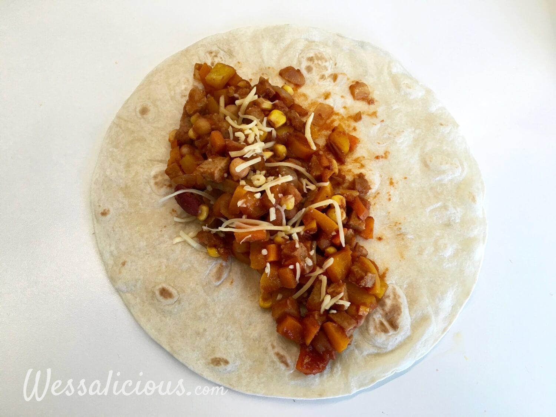 voorbereiding wrap Zomer Burrito's