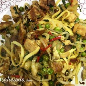 lekkere Indonesische Bami van pasta met