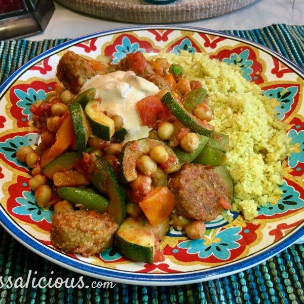 Falafelschotel met couscous