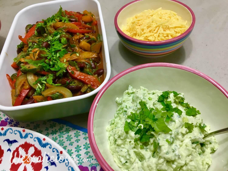 Overheerlijke Groentefajita's met snelle guacamole