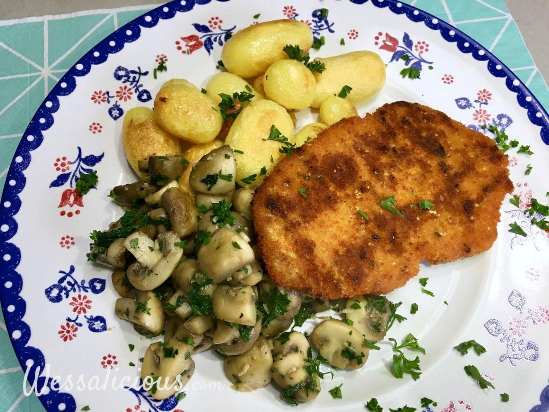 LEkkere Knoflookchampignons met aardappel