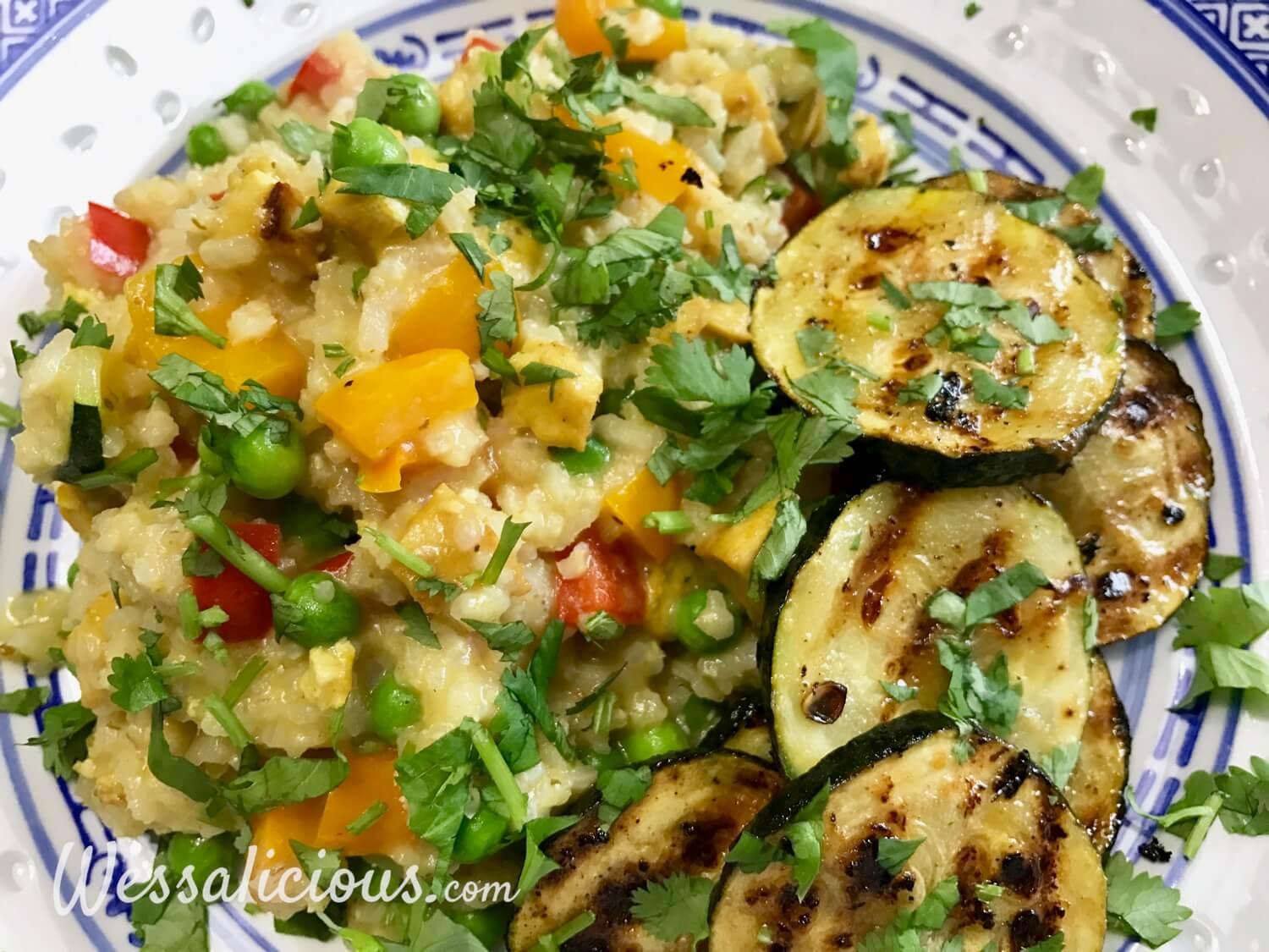 Frisse limoen-courgette met Thaise rijst