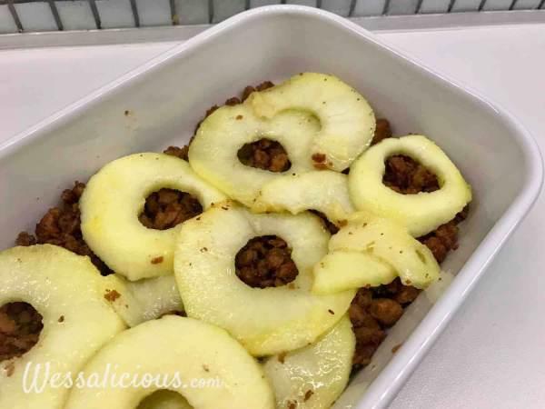 Appel met vegetarisch gehakt