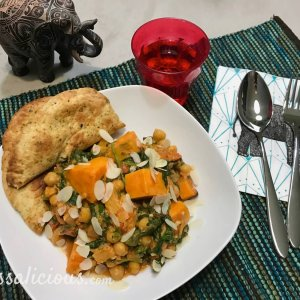 Lekkere Indiase curry met zoete aardappel